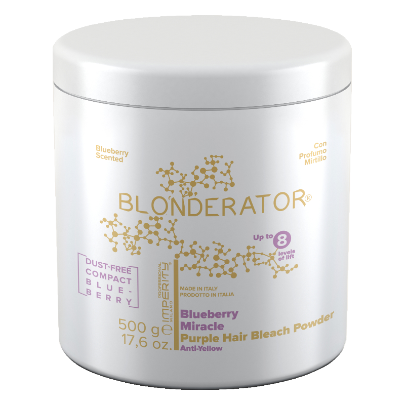 BLONDERATOR BLUEBERRY MIRACLE PURPLE HAIR BLEACH POWDER 500G
