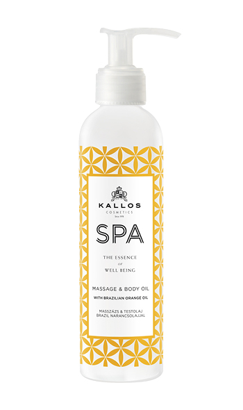 Kallos SPA Brazilia Orange Massage and Body oil - masážny a telový olej, 200 ml