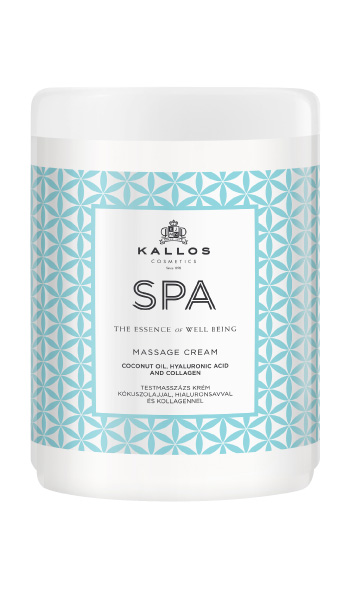 Kallos SPA MASSAGE CREAM WITH COCONUT OIL,HYALURONIC ACED AND COLLAGEN 1000ml